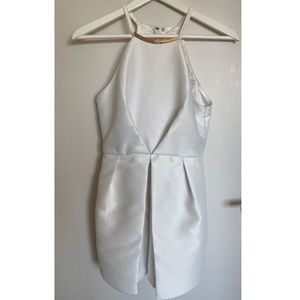 White Romper with neck-chain